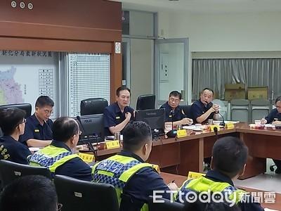 台南警長親赴新化分局視察