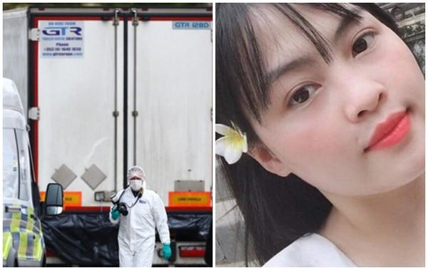 ▲越南女子范思達的家人相當著急,認為女兒是英國39廂屍案死者。(圖/路透/推特)