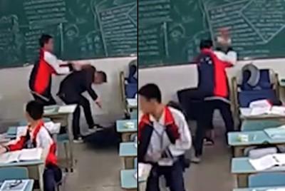 15歲學生持磚塊擊頭...男老師血濺牆壁倒地