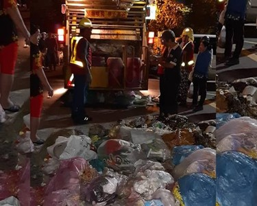 垃圾車連2爆!街道險成焚化爐