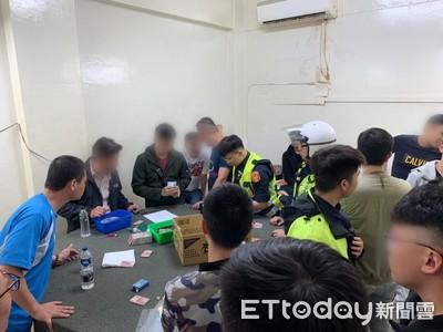 第1天開張就被抓 警攻堅三重牌賭場逮33人