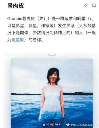 歐陽娜娜曾在微博po出陳綺貞《吉他手》專輯封面,疑似暗諷綦美合是為追星不惜獻身的「骨肉皮」。(翻攝自歐陽娜娜微博)