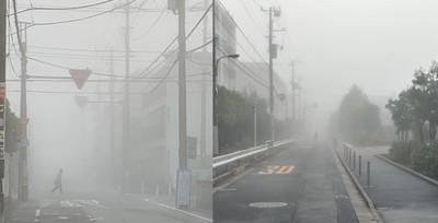 東京濃霧!晴空塔絕美、行人變殭屍