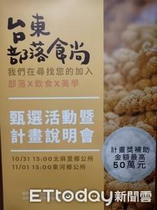 台東部落食尚店家甄選 11/15報名截止