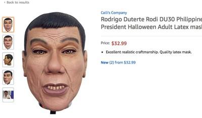 亞馬遜開賣「杜特蒂面具」