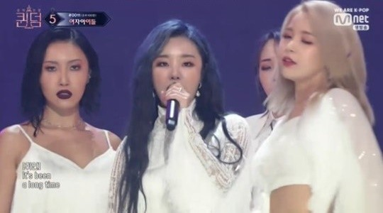 ▲Queendom,MAMAMOO,AOA,Oh My Girl,Lovelyz,(G)I-DLE,朴春。(圖/翻攝自Mnet)