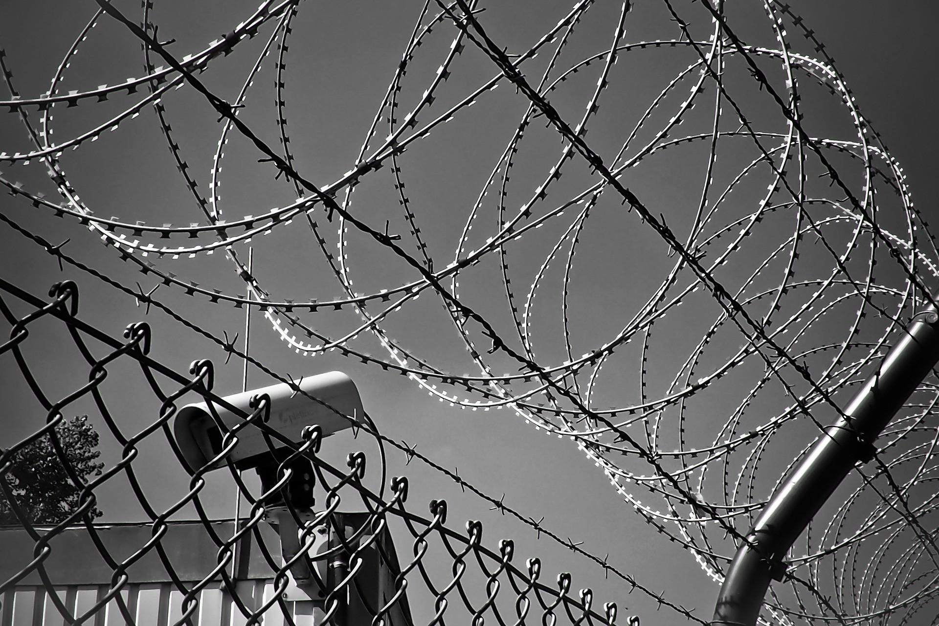 ▲▼監獄,鐵窗,受刑人,監視器。(圖/pixabay)