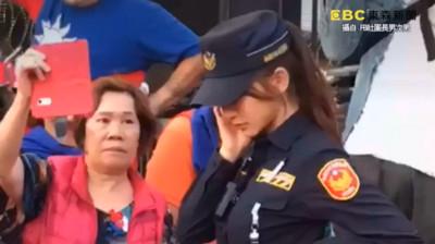 韓國瑜造勢驚見超正女警 有人神到了