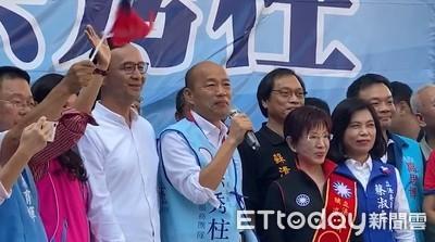 韓國瑜挺柱用選票捍衛台南榮光