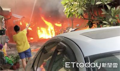 火燒幼兒園烈焰亂竄!