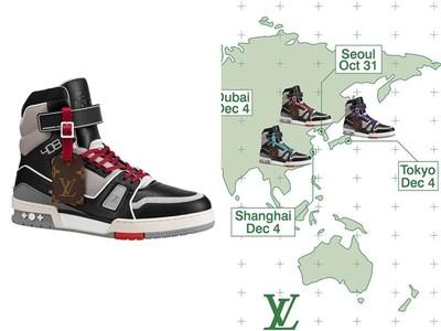 LV球鞋於9大城市販售限定款