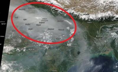 印度新德里從衛星消失!極惡空汙籠罩