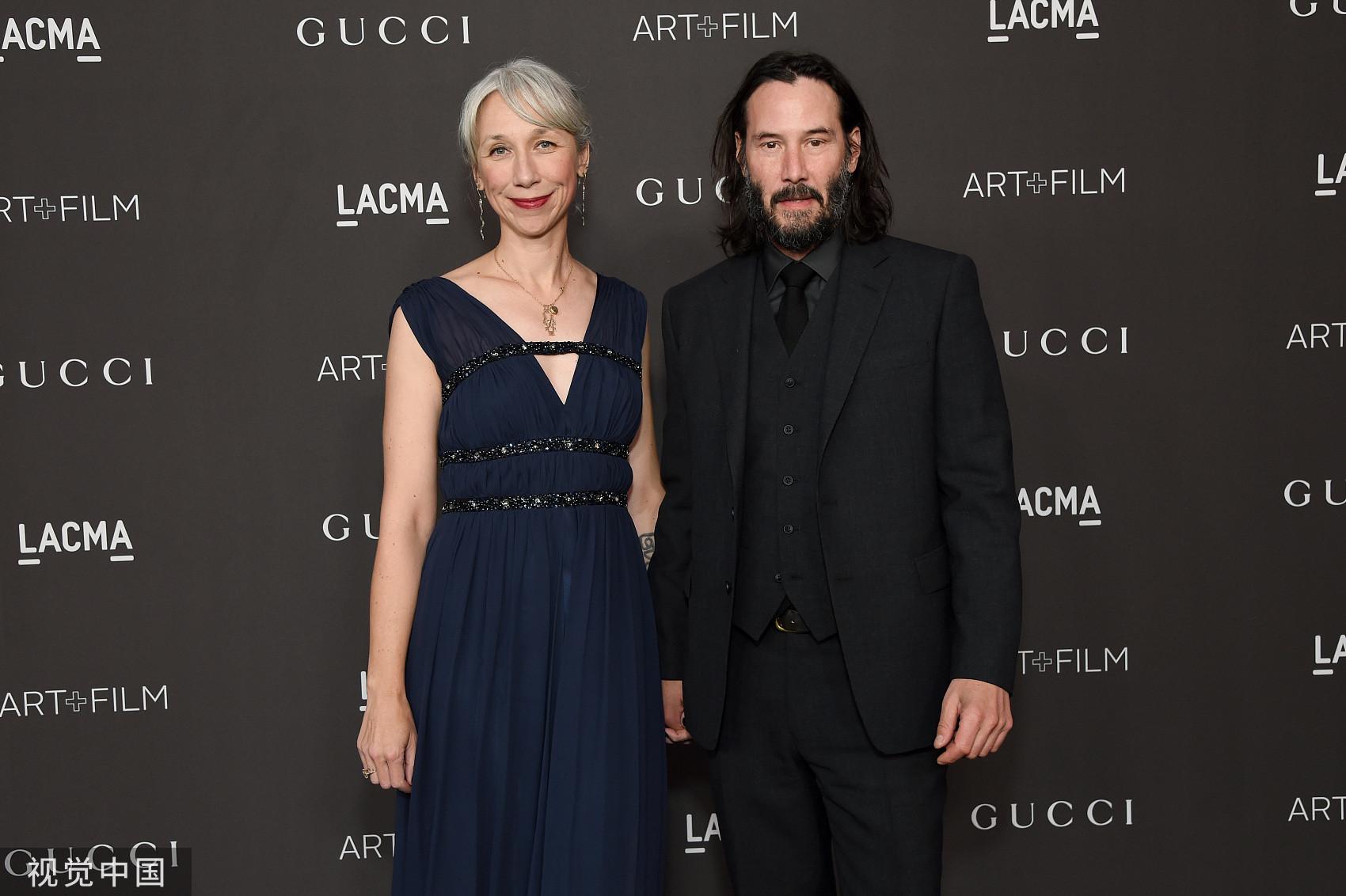 ▲▼基努李維(Keanu Reeves)公開認愛,新女友是46歲的藝術家亞歷山德拉格蘭特(Alexandra Grant)。(圖/CFP)