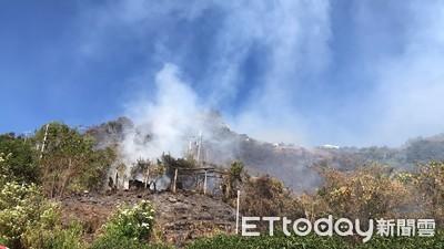 清境鄰近山坡地火警!火噬山林蔓延中