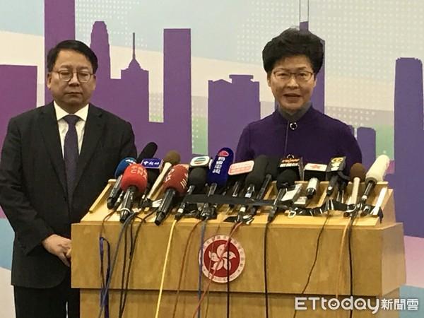 ▲ 林鄭月娥北京記者會。(圖/記者任以芳攝)