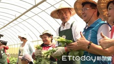 韓國瑜探望病友、體驗種菜展「庶民風」
