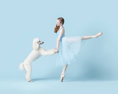芭蕾舞者與狗狗的浪漫共舞