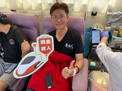 高鐵桃園站捐血人數 創新紀錄