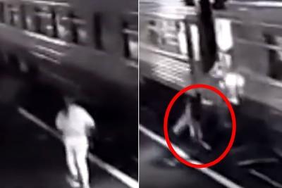 女見火車開走跳上去 墜軌遭輾斷腿