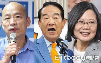 總統政見會來了!蔡英文、韓國瑜、宋楚瑜18日正面交鋒