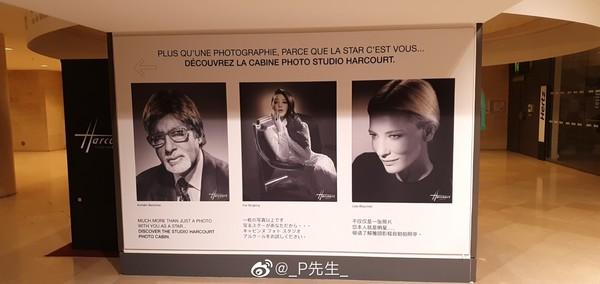 ▲范冰冰的畫報被放置在羅浮宮外展示。(圖/翻攝微博/_P先生_)