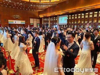 中華電今舉辦集團婚禮