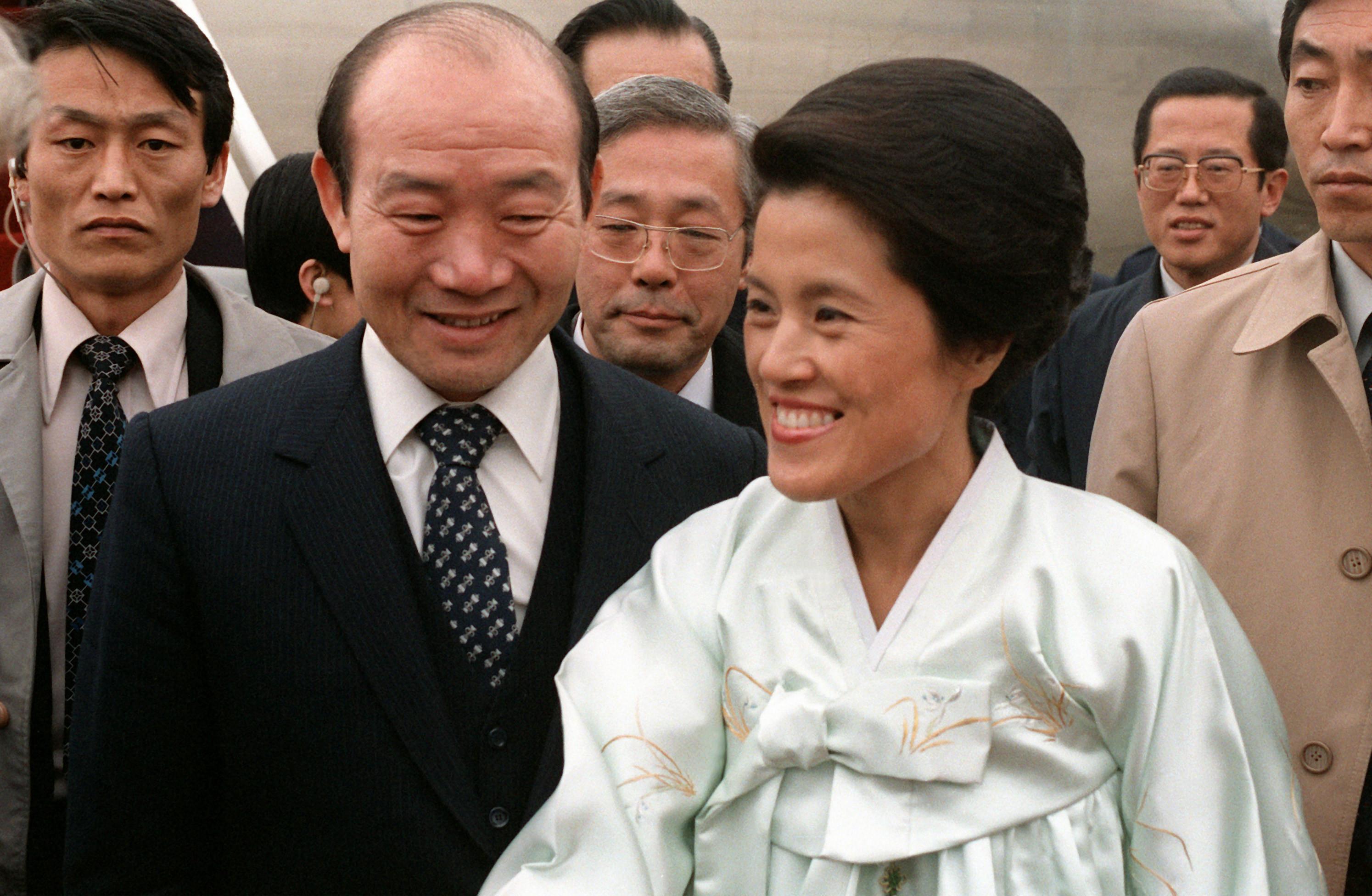 ▲▼1981年全斗煥和夫人李順子訪美(圖/翻攝自維基百科)