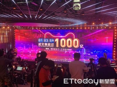 快訊/天貓雙11成交額1小時03分破1000億