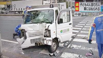 日幼稚園散步遭貨車衝撞 6人送醫