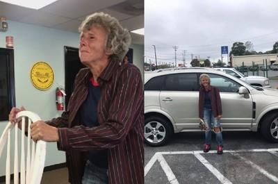 她徒步20公里回家 暖心同事募款買車