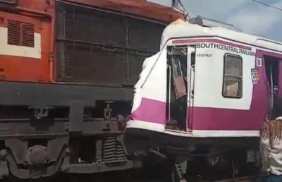 印度列車追撞脫軌13傷 火車駕駛受困