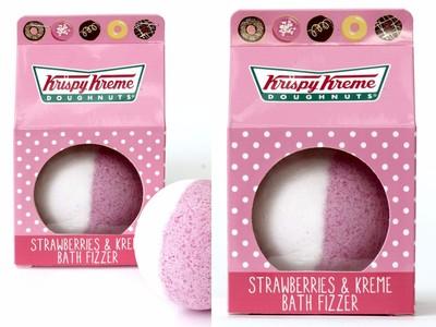 Krispy Kreme「草莓奶油」發泡沐浴球