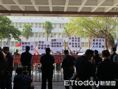 驅離太陽花流血判國賠 退警集結北院抗議