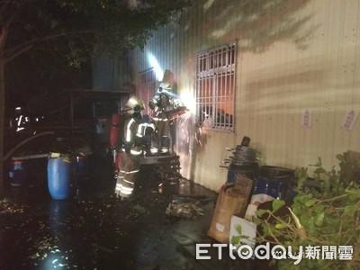 台南西港傳出工廠火警全力搶救