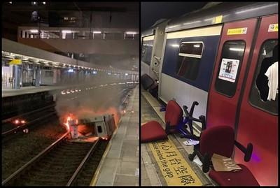 香港交通癱瘓「13日可彈性上班、上課」