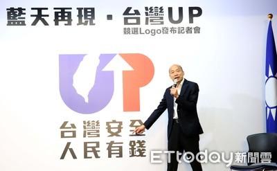 韓國瑜公布競選主視覺「UP」