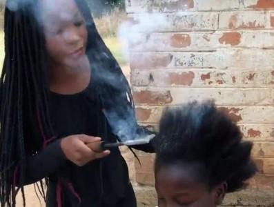 非洲超狂「燙髮」過程像火災現場