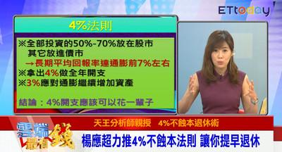 影/存到多少錢可退休? 昔日外資分析師楊應超分享「4%法則」