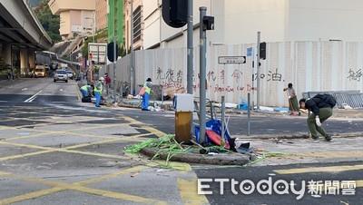 港民清理街道 港媒:對示威者不再沉默