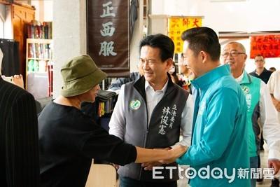 新竹市長林智堅南下為林俊憲助選
