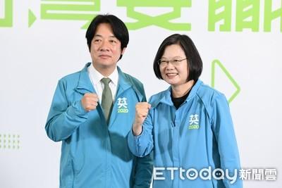 TVBS民調:蔡賴配45% 韓張配37%