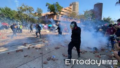 漆咸道南港警動用「最低武力」催淚彈