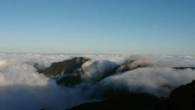 太平山雲瀑來了 坐看氣勢磅礡美景