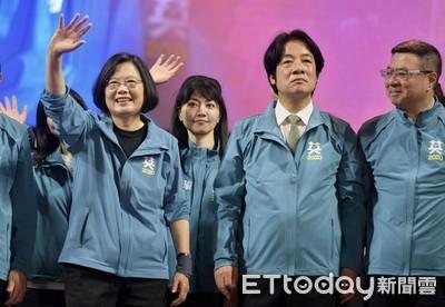 聯合報民調:蔡賴45%領先韓、宋