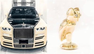 勞斯萊斯車頭站著「黃金貓頭鷹」?饒舌歌手砸2134萬示範有錢任性
