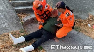 民眾參加淨灘摔傷海巡救援