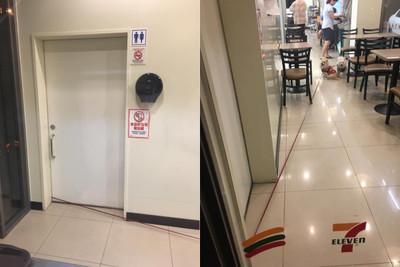 小7廁所拉「超長牽繩」2汪躲超遠