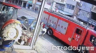 消防車撞頭噴飛 昏迷指數3