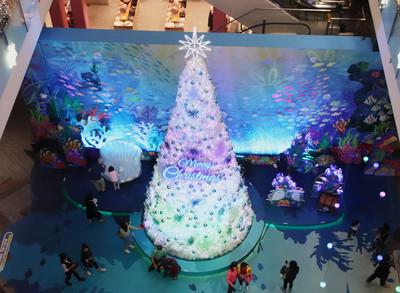 台茂海洋耶誕派對 超美泡泡燈光秀