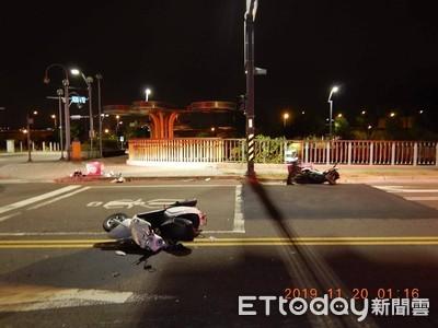 2外送員路口碰撞 目擊民眾傻眼:互相傷害?